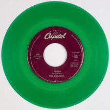 THE BEATLES: Taxman / Birthday USA Capitol GREEN WAX Colored 45 NM Stock