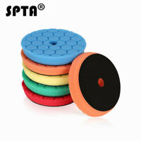 SPTA 5Pcs 6Inch 150mm Sponge Polishing Pads Buffing Pads For Car DA Polisher