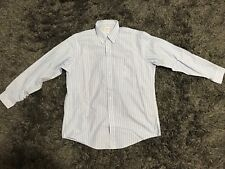 Brooks Brothers Traditional Fit 16 1/2-35 Button Up Striped Supima Cotton Shirt