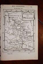 ✒ 1683 MANESSON MALLET Carte Silésie Moravie ALLEMAGNE POLOGNE