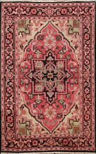 Geometric Traditional Indo Heriz Oriental Area Rug Hand-knotted WOOL Carpet 4x6