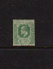 LEEWARD ISLANDS EDWARD VII 1/2d GREEN - USED