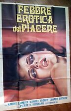 FILM- FEBBRE EROTICA DEL PIACERE,ANNO 1960-MANIFESTO ORIGINALE (200 X 140)N.236