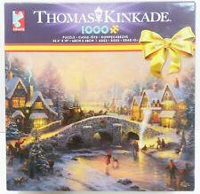 """Thomas Kinkade 1000 Pcs. Puzzle """"Spirit Of Christmas"""" Brand New Factory Sealed"""