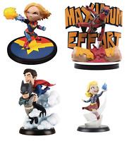 QMX Q-Fig Captain Marvel Deadpool DC Superman Batman Supergirl Figurine Statue
