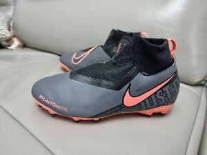 Nike Phantom VSN Ghost Lace Grey/Orange Football Boots UK Size 3.5 Multiground