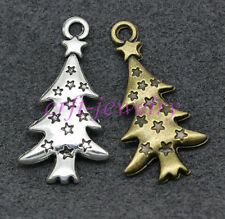 Tibetan silver charm pendant Christmas tree Jewelry accessorie 30/300pcs 27x14mm