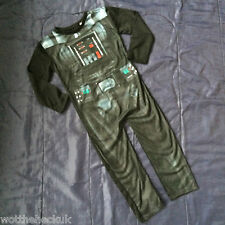 Boys Star Wars Darth Vader Costume Outfit Storm Suit Onesie Dress up Set 4-7 6-7 Years