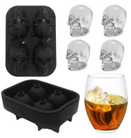 Skull Shape 3D Ice Cube Mold Maker Bar Party Silicone Trays Chocolate DIY Mould