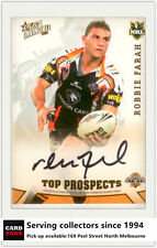 2006 Select NRL Invincible Top Prospect Signature TP9 Robbie Farah (Tigers)