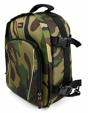 Rugged Camouflage Rucksack w/ Adjustable Padded Interior For Canon XA10