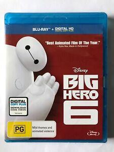 Big Hero 6 (2014, Region B Blu-Ray, NEW & SEALED, Disney)