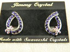JIMMY CRYSTAL Swarovski Crystal earrings amethyst color - New