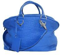 0983e95faf Versace Gianni Athena Vanitas Couture Greece Women Blue Leather Satchel  Msml2