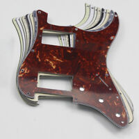 Strat HH Pick Guard 2 Humbucker 11 Holes Scratch Plate + Screws for Strat Guitar