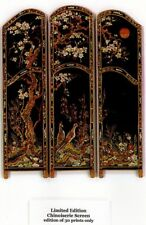 1:24 scale Natasha Beshenkovsky's Mini Decoupage print~CHINOISERIE SCREEN~LTD ED