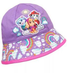 Paw Patrol Toddler Baby Girl's Purple Bucket Swim Beach Pool Sun Hat One Size