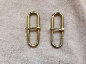 Excellent British Army Victorian Officers Patt/Size Brass Belt Hook-Sliders 4cm