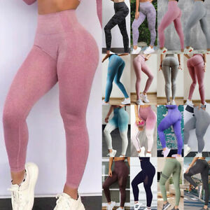 Seamless Yoga Pants Womens High Waist Gym Sportswear Running Fitness Leggings M8