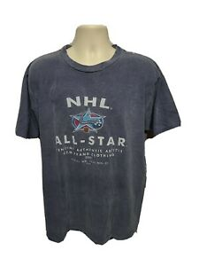 2001 CCM NHL All Star Hockey Adult Large Gray TShirt