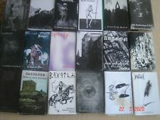 LOT 20 of 40 Tapes/Audio cassettes new Black Metal  Demos