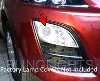 LED White Halo Angel Eye Fog Lamps Light Kit for 2010 2011 2012 Mazda CX-7 CX7