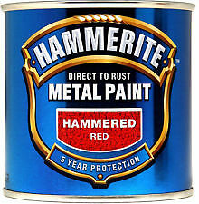 Hammerite Metal Paint Hammered Red 750ml (3 x 250ml cans)
