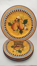 "Set of THREE Heritage Mint Mediterranean Pear 11"" Dinner Plates"