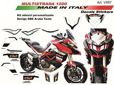 Adesivi per Ducati Multistrada 1200  2015/2017 design Aruba Team