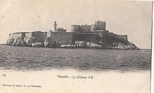 CD63.Vintage French Postcard. Marseille. Le Chateau d'If. France