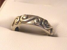 Sterling Silver Three Swirly Waves Stylish Men's Women's Unisex 925 Ring Size 7