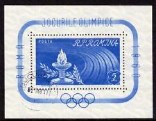 Romania Scott #1337 VF Cancelled 1960 5 Lei 17th Olympic Games Souvenir Sheet