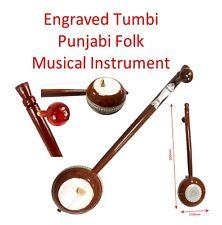 More details for tumbi engraved punjabi folk musical instrument single string ektara handmade