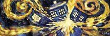 Doctor Who Exploding Tardis TV Show Poster (Van Gogh's Exploding Tardis) Poster