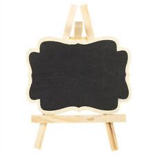 Wooden Mini Blackboard Memo Sign Message Chalk Board Kitchen Office