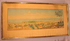 Rares altes Panoramagemälde Konstanz Bodensee Biedermeier um 1830
