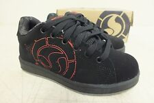 DVS Shoe Company Revival Splat Black Nubuck Skateboarding Shoes US 3/35 NEW
