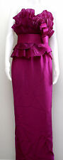 BREATHTAKING MARCHESA NOTTE SIZE 4 EVENING GOWN DRESS PURPLE 100% SILK LONG BNWT