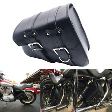 Motorcycle Left Leather Saddle Bag For Harley Sportster XL 883 Hugger Sportster
