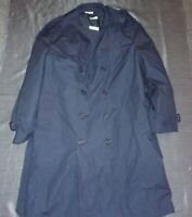 USAF US AIR FORCE BLUE MANS ALL WEATHER TRENCH OVER COAT W/ LINER 42 SHORT