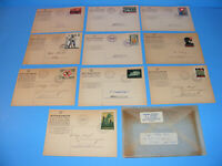 RARE WWII Swiss Military Post Cards Switzerland Stamps 1939 - 1940 Lot of 10