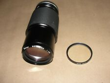 Vivitar 80-200mm f4.5 Lens Canon C/FD wITH HOYA Lens filter