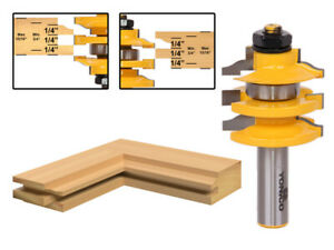 "Ogee Stacked Rail and Stile Router Bit - 1/2"" Shank - Yonico 12121"
