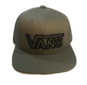 Vans Drop V Baseball Snapback Hat Olive Green Baseball Cap New Skate Surf