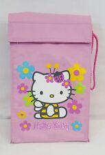RARE 1999 Sanrio HELLO KITTY BUMBLE BEE & LADY BUG Reusable LUNCH BAG Sack NEW