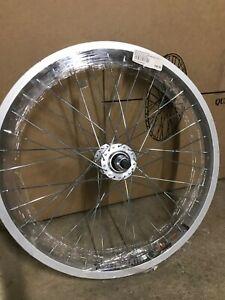 "20"" Alloy BMX Front Wheel, 14mm axle (larger than standard)"