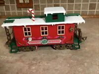 New Bright Logger Bears Express G Scale Christmas Caboose Train Replacement