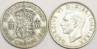 1937 to 1946 George VI Silver Halfcrown Your Choice of Date / Year
