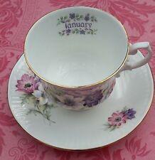 """tasse à thé porcelaine anglaise Elizabethan Les Mois de l'Année """"Janvier"""""""