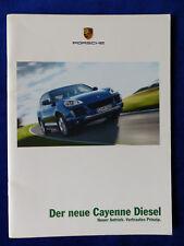 PORSCHE CAYENNE Diesel MJ 2009-prospetto brochure 10.2008